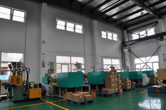 injection workshop of china plastic product factory